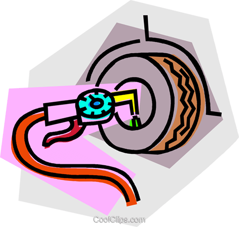 air hose and air gauge Royalty Free Vector Clip Art.