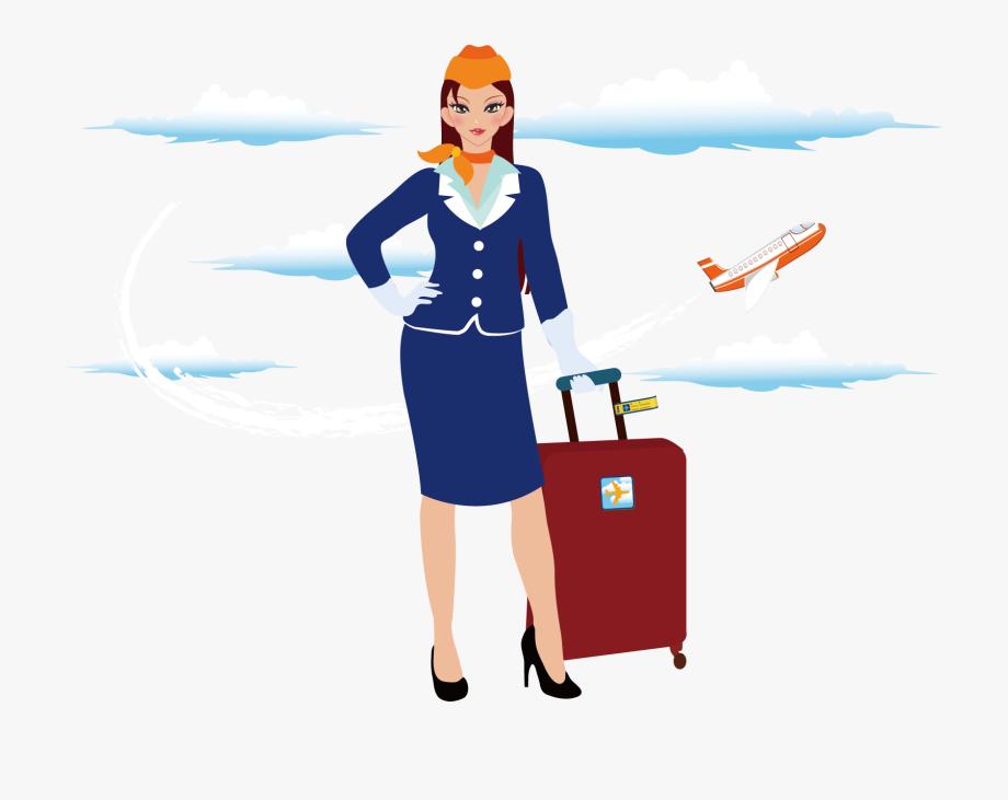 Flight Attendant Clipart Png , Transparent Cartoon, Free.