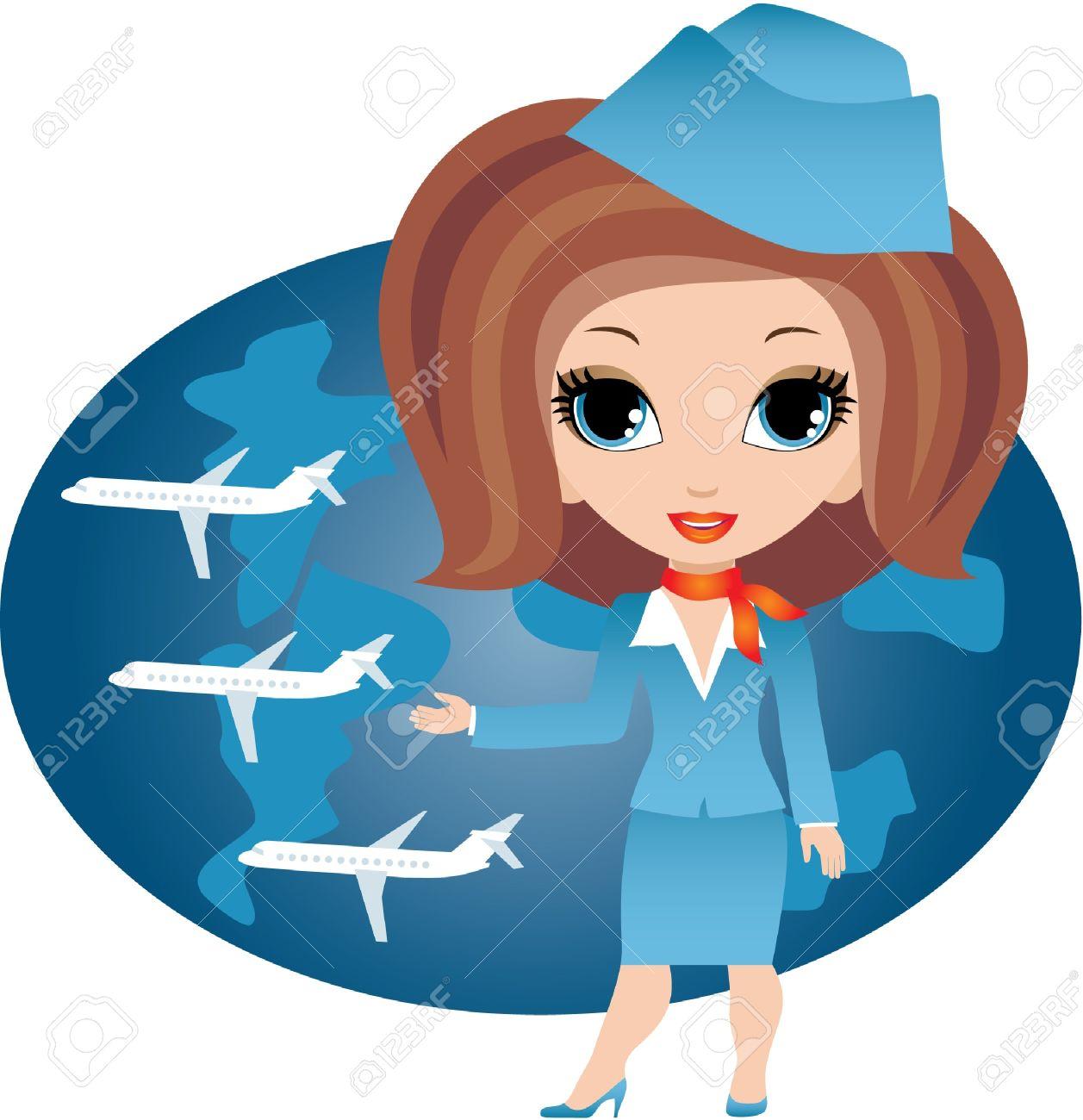 Air hostess clipart 12 » Clipart Station.