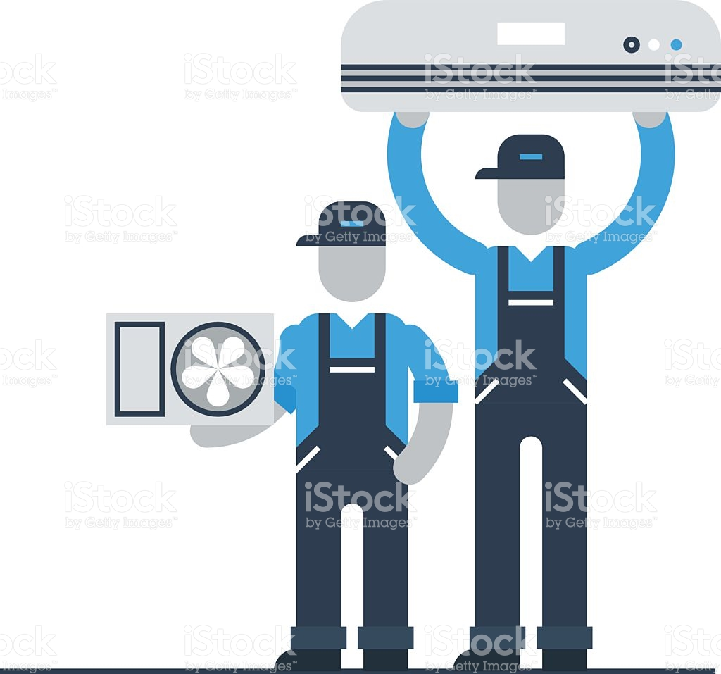 Air Conditioner Service stock vector art 506097646.