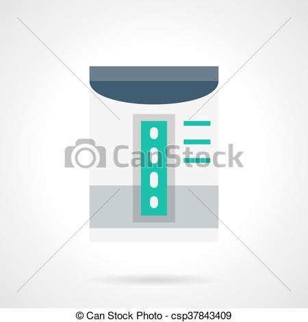 Vector Clipart of Household dehumidifier flat color vector icon.