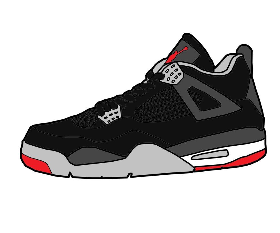 Jordan 4 Clipart.