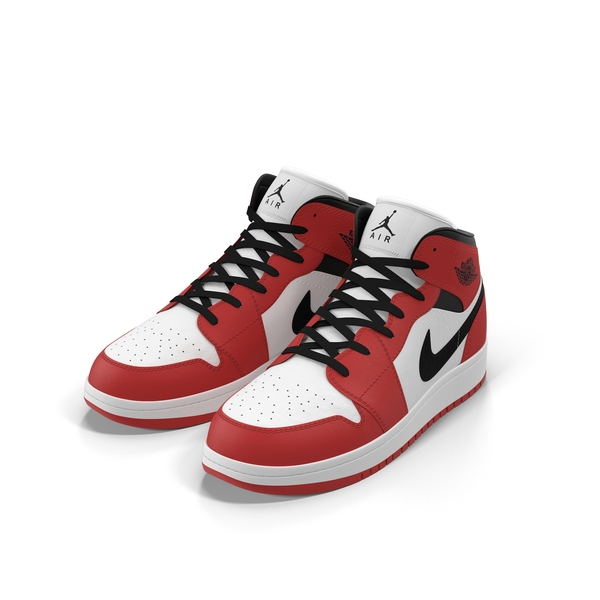 Nike Air Jordan 1 Red And Black PNG Images & PSDs for Download.