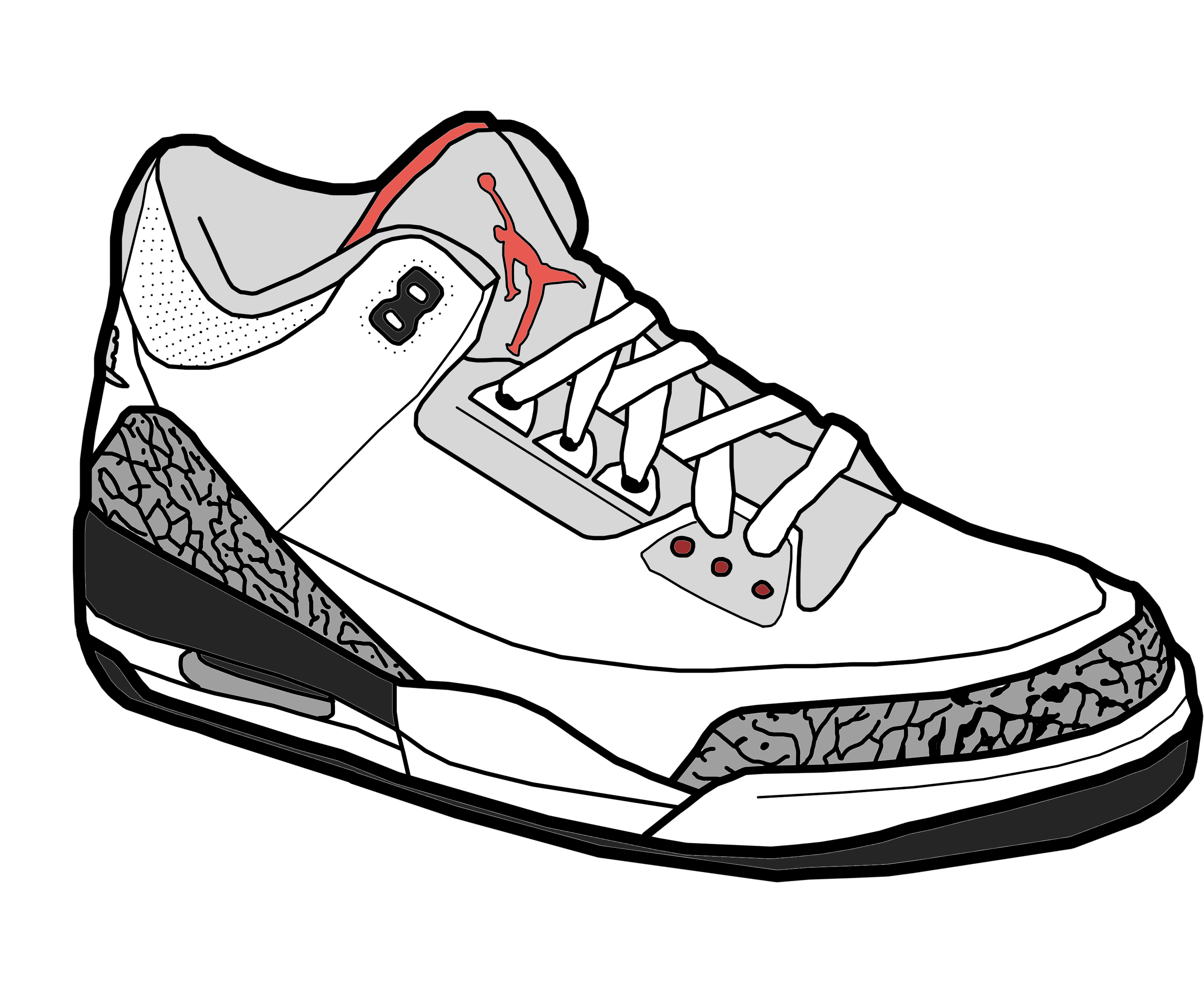Jumpman Air Jordan Shoe Sneakers Clip art.