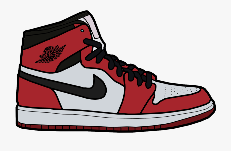 Air Jordan Shoes Drawing.