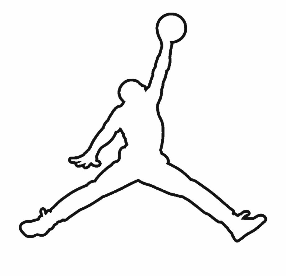 Jumpman Air Jordan Logo White Black Png Image.