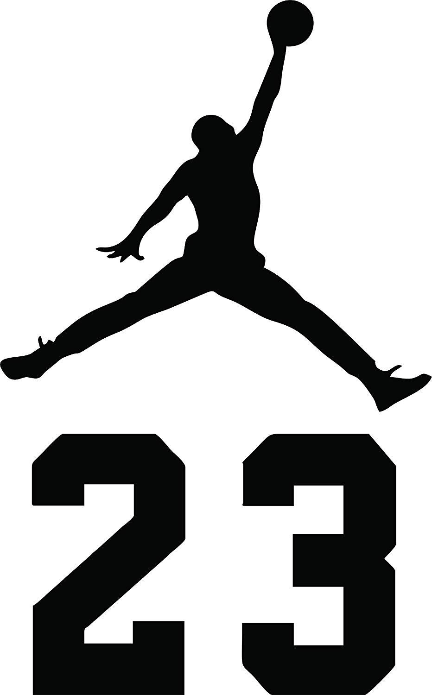 NBA Jordan 23 Jumpman Logo AIR Huge Vinyl Decal Sticker for Wall Car Room  Windows (23\