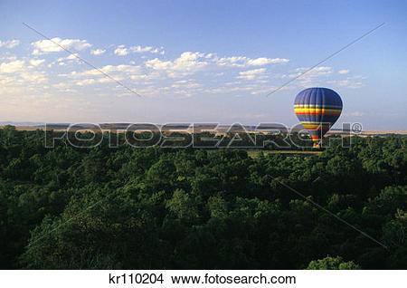Stock Photo of Kenya, Africa Masa Mara Game Reserve Hot Air.