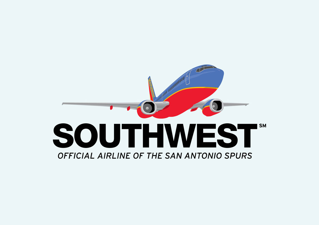 South West Airlines Clipart.