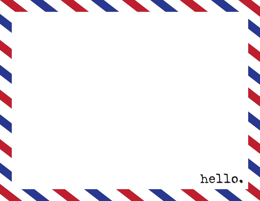 Airmail Envelope Template.