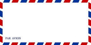 Par Avion Postal Envelope Stock Illustrations.