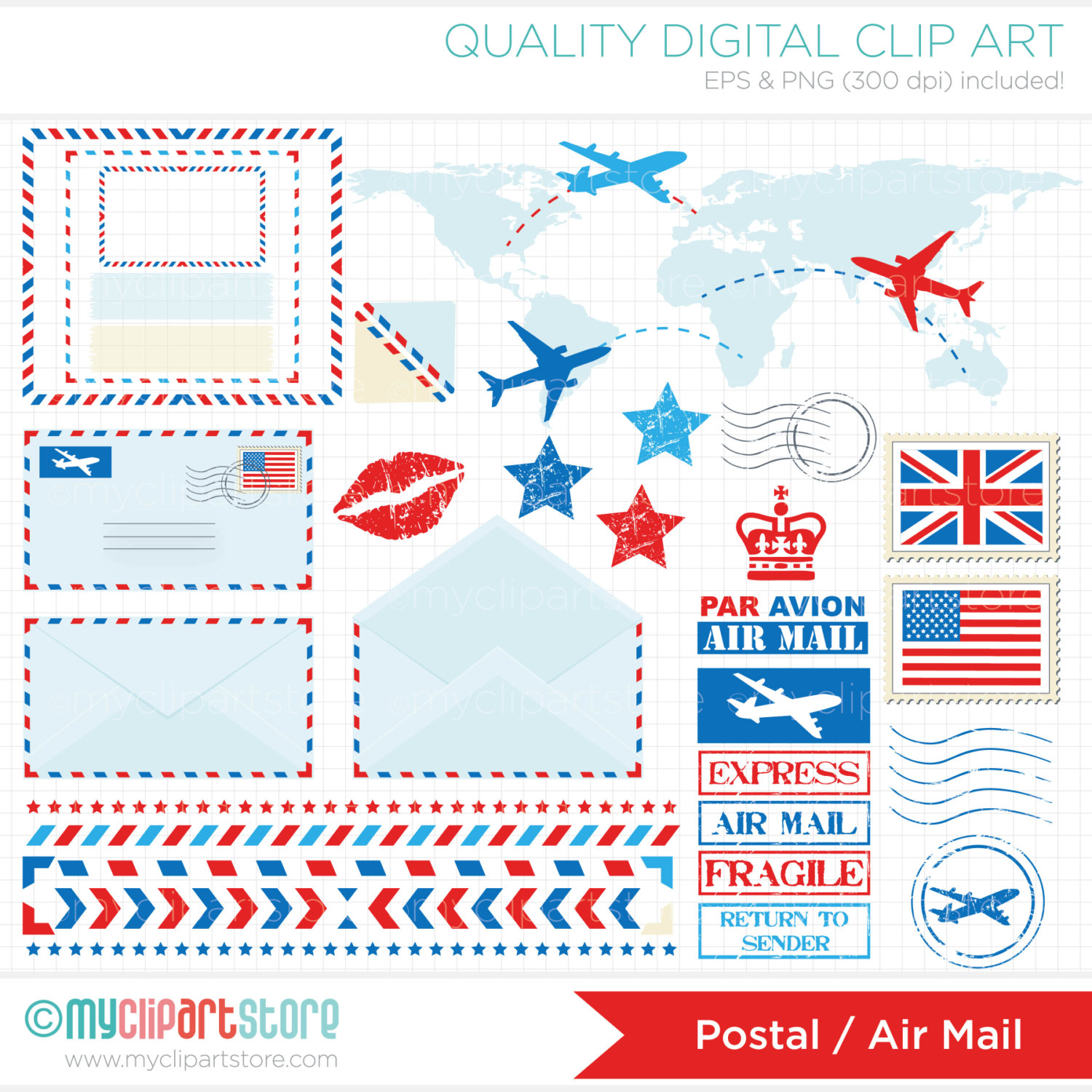 Air Mail Clipart.