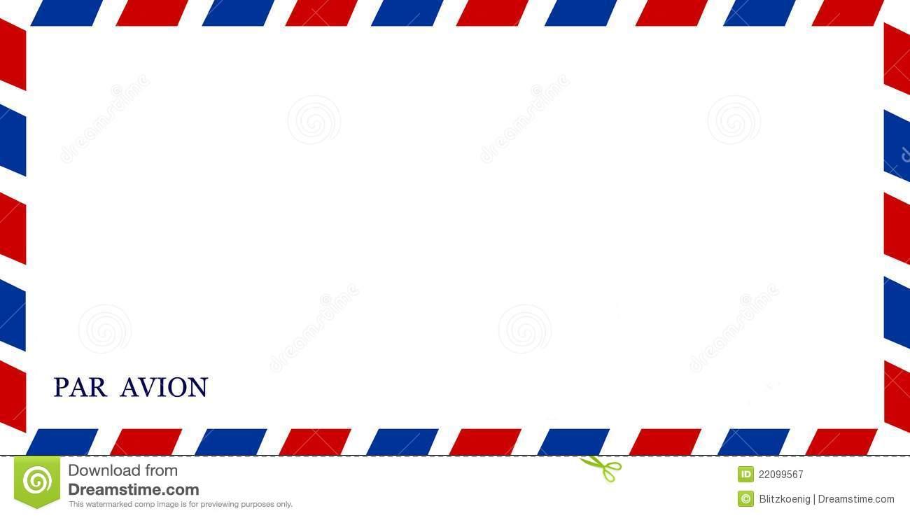 Air Mail Border Clipart.