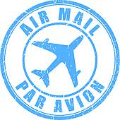 Air Mail Clip Art.
