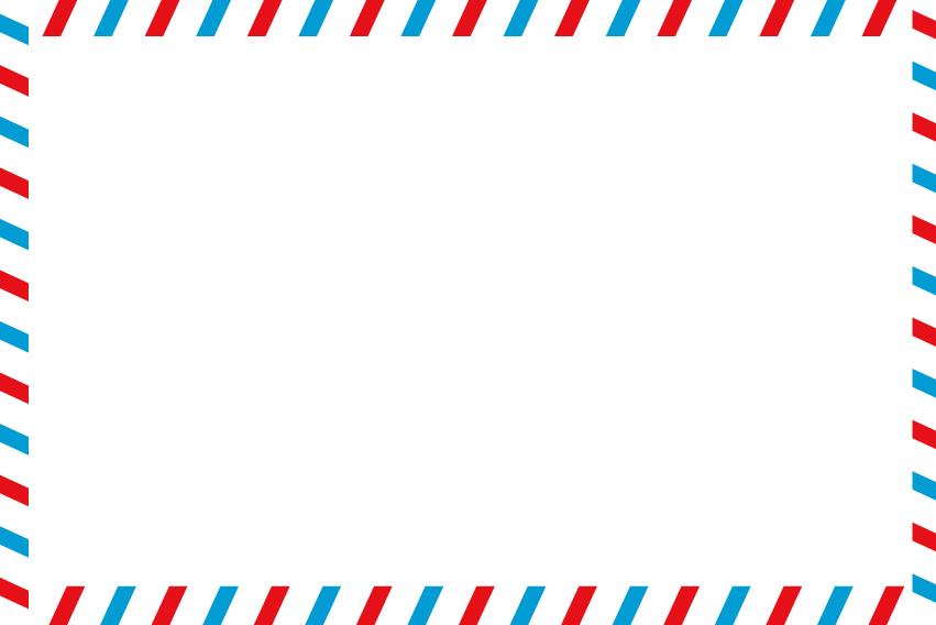 Airmail border clipart.