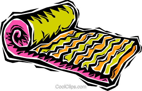 air mattress Royalty Free Vector Clip Art illustration.