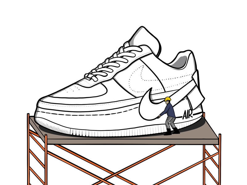 Nike Air force 1 Jester.