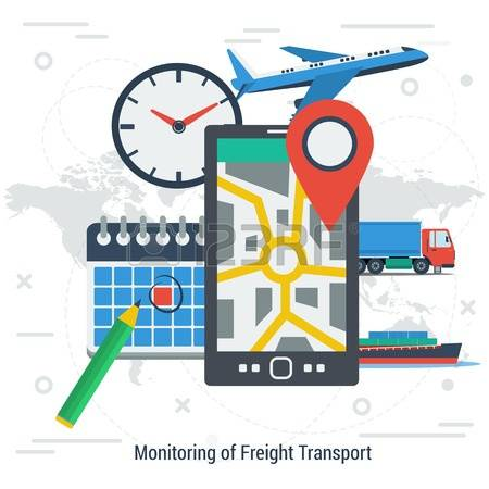 234 Truck Tracking Stock Vector Illustration And Royalty Free.