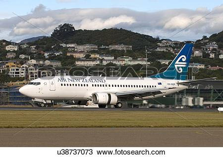 Stock Photo of Air New Zealand Boeing 737.
