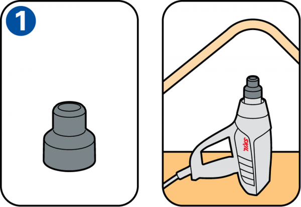 What are different heat gun nozzles for?.
