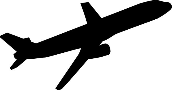 Black airplane clipart.