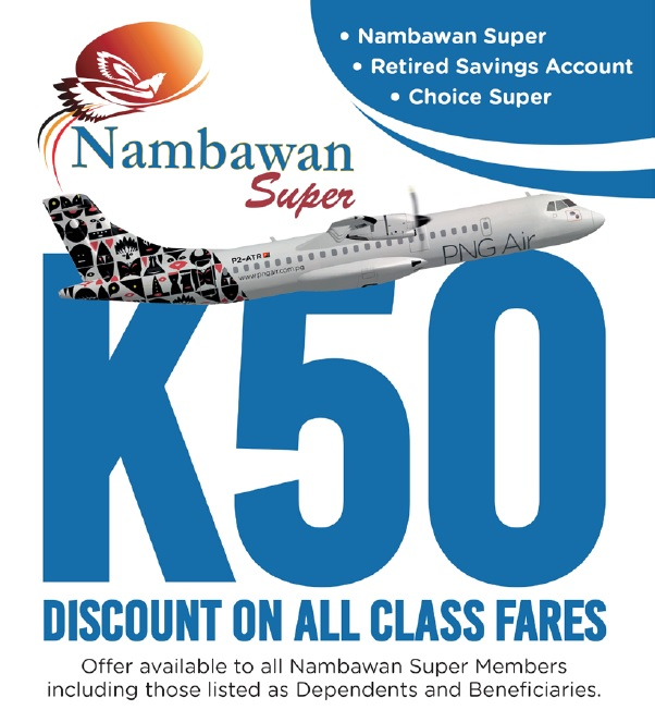PNG Air offers discounts to Members.