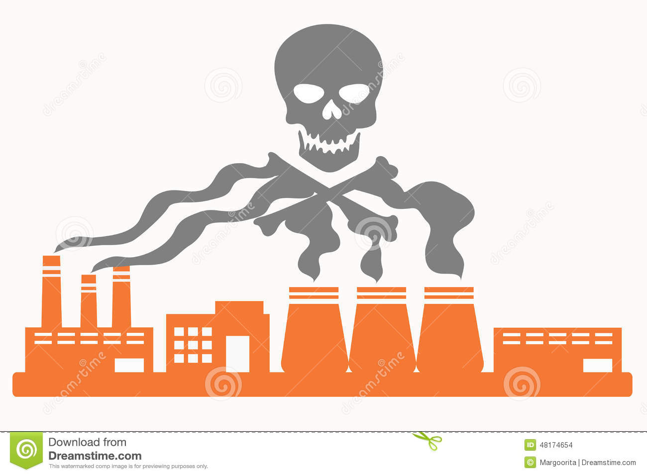 Air Pollution Stock Vector.