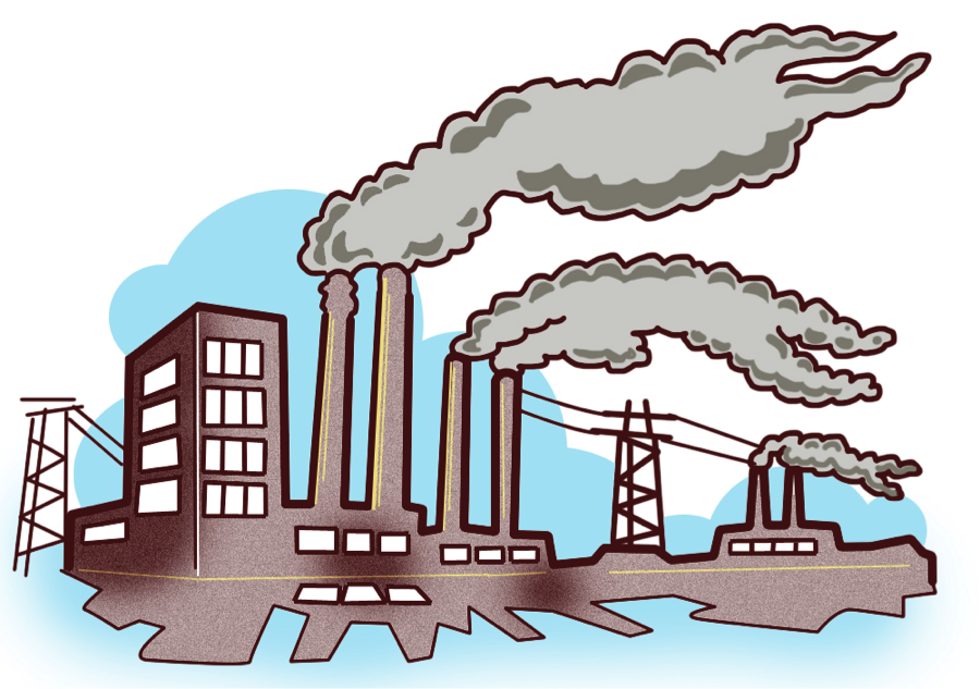 Air pollution clipart.