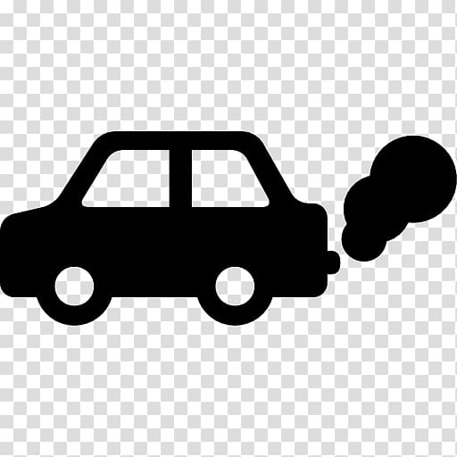 Silhouette of car illustration, Car Air pollution Computer.