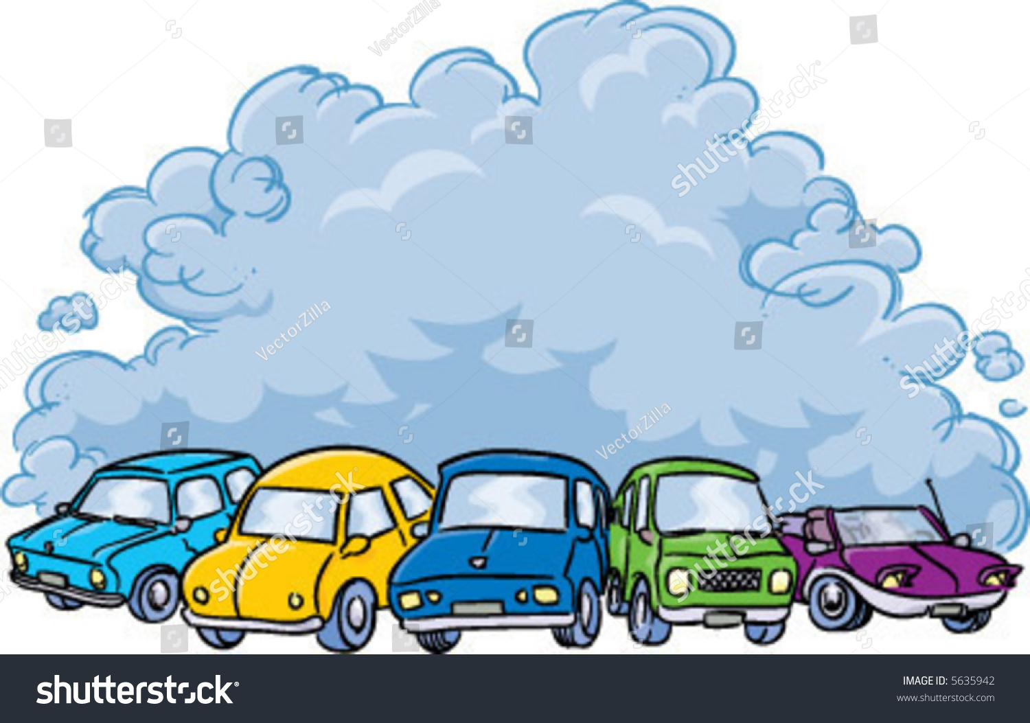Air Pollution From Cars Clipart.