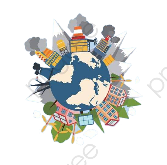 Air Pollution, City, Comics PNG Transparent Clipart Image and PSD.
