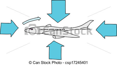 Vector Clipart of Airfoil Plane Diagram.