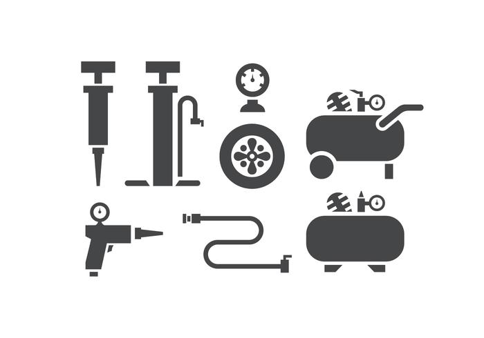 Air pump and compressor icons.