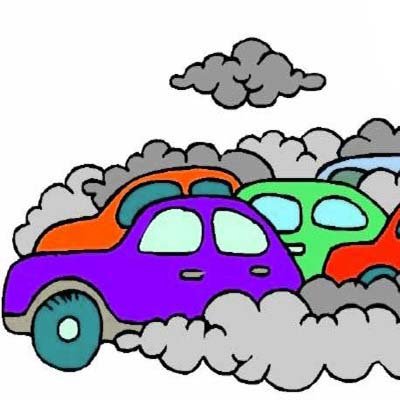 Car air pollution clipart.