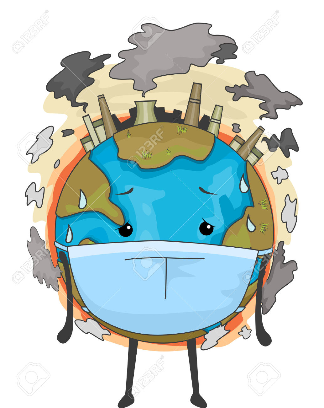 Poster on air pollution clipart.
