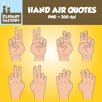 Clip Art: Hands Air Quotes.