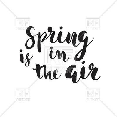 Spring is in the air.