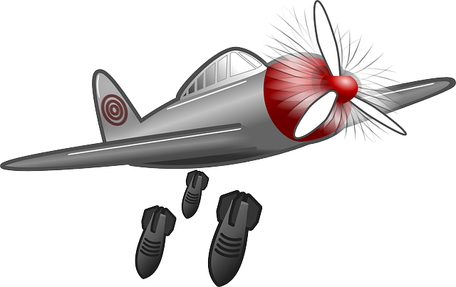 Free vector graphic: Air Raid, Bombing Raid, Bomber.