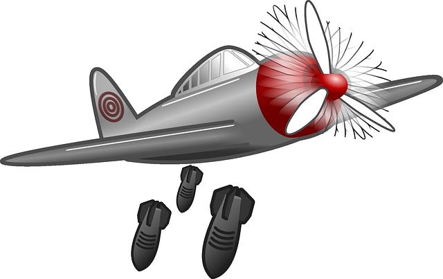Free vector graphic: Air Raid, Bombing Raid, Bomber.