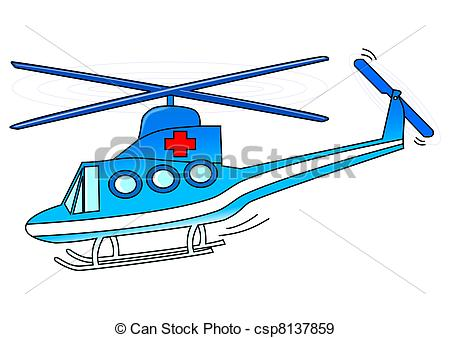 Stock Illustration of Rescue helicopter.