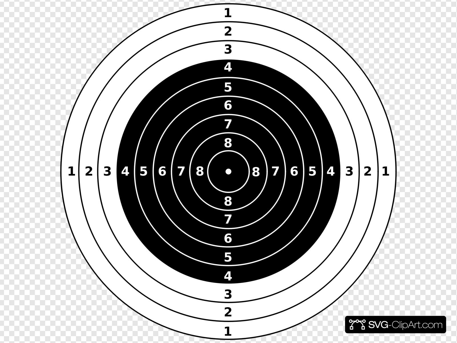 M Air Rifle Target Clip art, Icon and SVG.