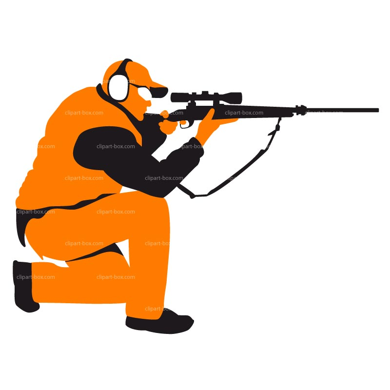 Rifle Shooting Clipart.