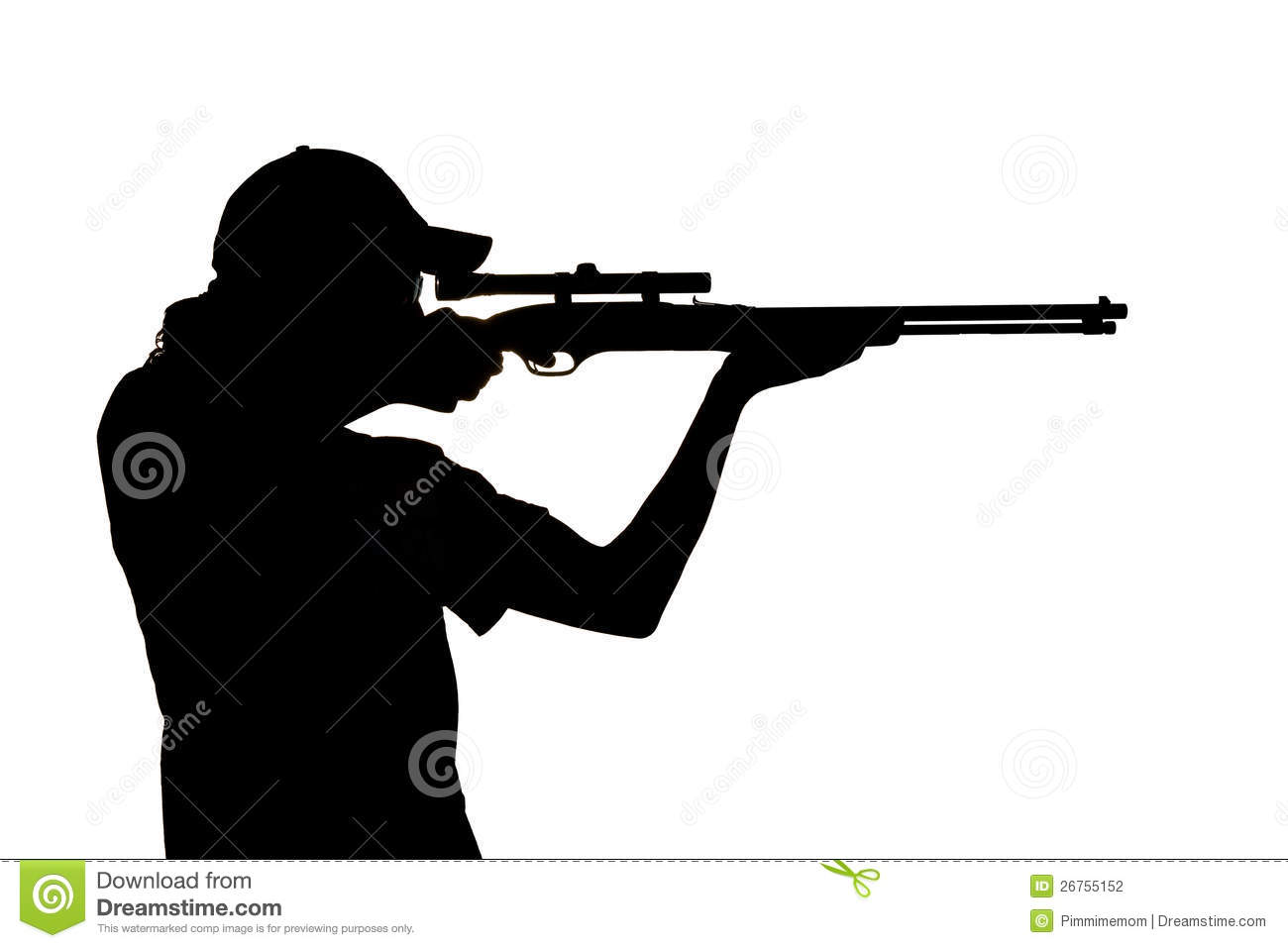 1231 Rifle free clipart.