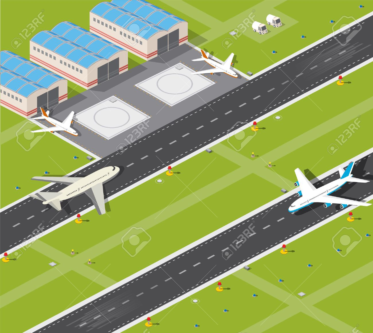 Plane On Runway Clipart.