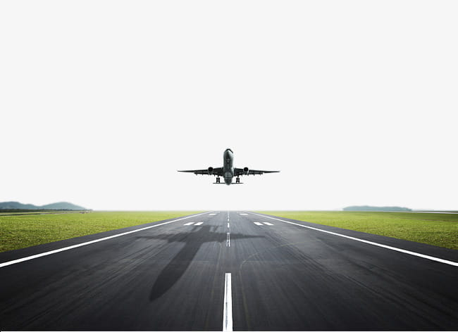 Runway take off the plane hd PNG clipart.