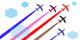 Colored Paper Planes Stock Illustrations.