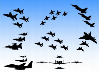 Us air force plane clipart.