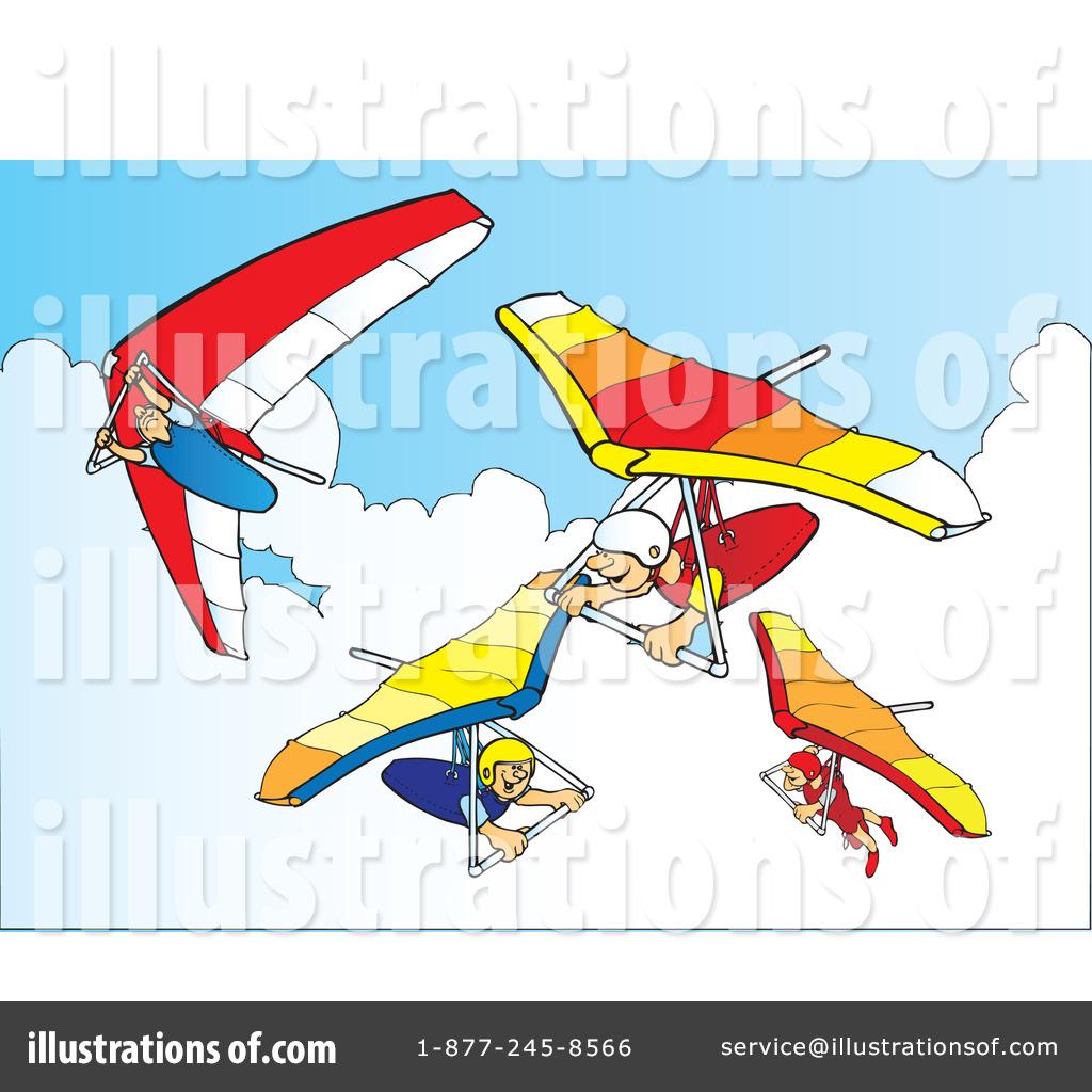 Hang Gliding Clipart #41914.