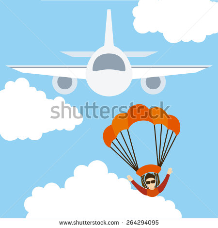 Parachute Jump Stock Photos, Royalty.