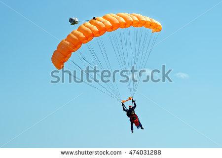 Parachute Stock Photos, Royalty.